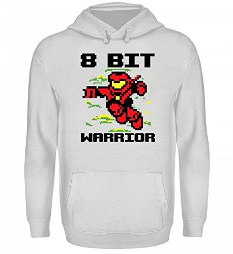 Hochwertiger Unisex Kapuzenpullover Hoodie - Videospiele TShirt oder Pullover - Gaming Shirt Retro Pixel Design - 8 Bit Warrior - Retro-gaming-pullover