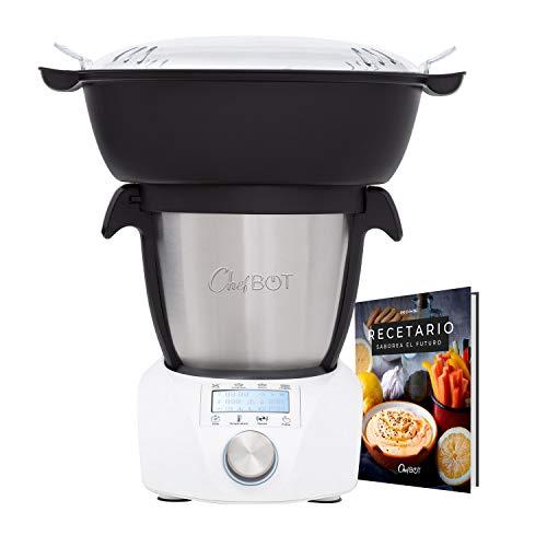 IKOHS CHEFBOT Compact STEAMPRO - Robot de Cocina Multifunción, Cocina al Vapor, 23 Funciones, 10...