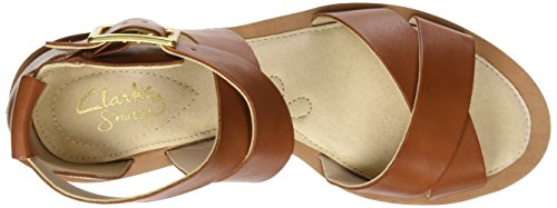 Clarks 261228724, Sandali Donna Marrone (Tan Leather)