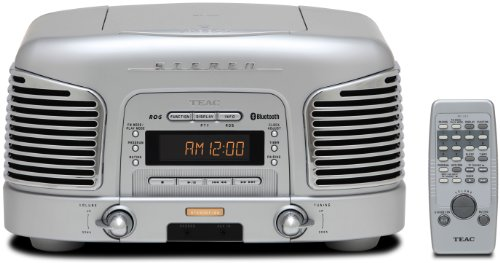 Teac SL-D 930 silber Retro Kompaktanlage (2.1 Kanäle, Radio, CD, MP3/WMA, RDS, AUX-Eingang, Bluetooth)
