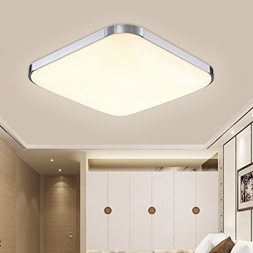 HengdaR 36W LED Deckenleuchte Modern Deckenlampe Warmweiss Flur Wohnzimmer Lampe Schlafzimmer 85V 265V 2700K 3500K Amazonde Beleuchtung