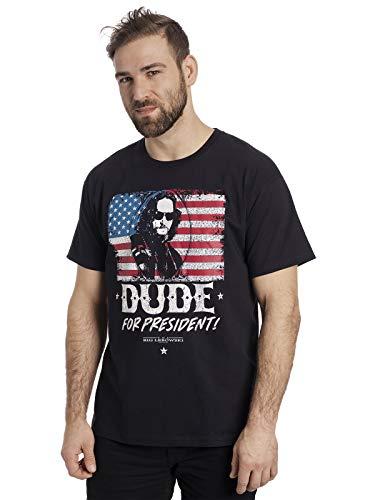 The Big Lebowski Dude for President T-Shirt schwarz 3XL -