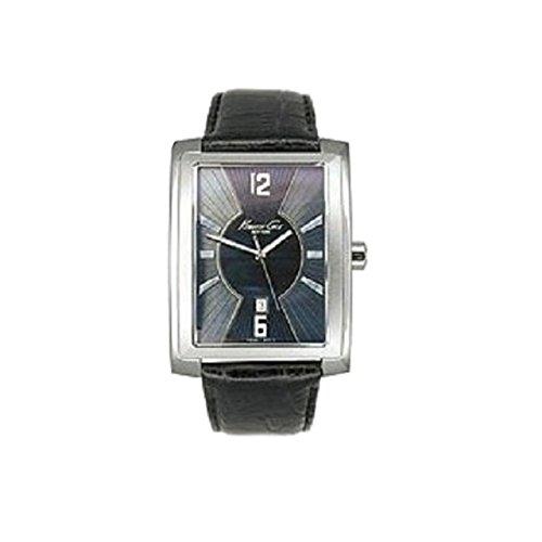 Kenneth Cole Gents Black Leather Watch KS1007 & Alarm Clock Gift Set