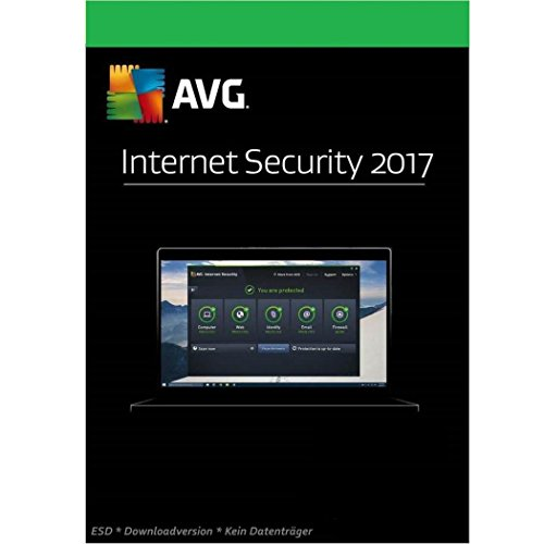 AVG Internet Security 3 PC 2017 Vollversion 1 Jahr [Online Code] Lizenz Key