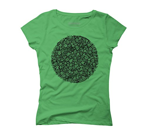 Floral ring Women's Graphic T-Shirt - Design By Humans Green