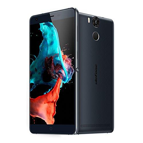 Ulefone Power Smartphone ohne Vertrag (5.5u0022 FHD Display, 4G Dual-SIM, 3GB RAM, 16GB Interner Speicher, Dual-Hinterkamera, Android 6,0, 6050mAh Akku mit Schnellaufladung) Blue