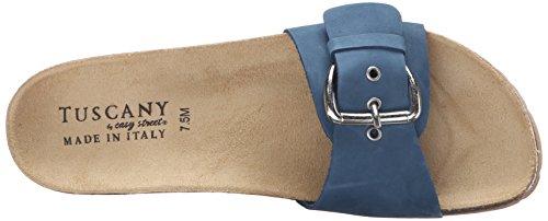 Easy Street Amico Damen Schmal Leder Sandale Navy