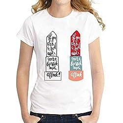 ZCYTIM Divertida Lápiz Labial Camiseta Impresa Mujer Manga Corta Casual Dama Camiseta Marvel t Shirts Tops Tees Plus