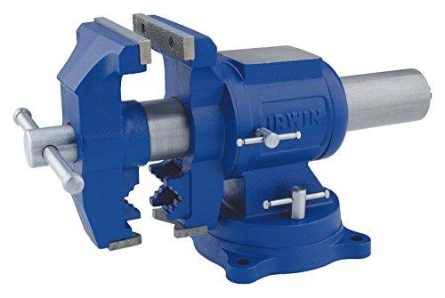 Irwin Werkstatt-Schraubstock 125 mm, für mittlere Beanspruchung, mit Drehplatte, mit Ambossfläche, Kopf 360Grad drehbar, 4935505