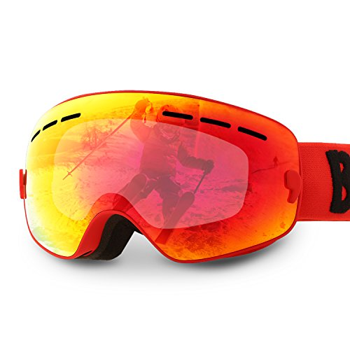 Gafas de Esquí para Niños Máscara Facial Gafas Doble Anti-UV Lens A