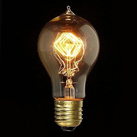 E27 40W A19 Filament Edison Incandescence Retro