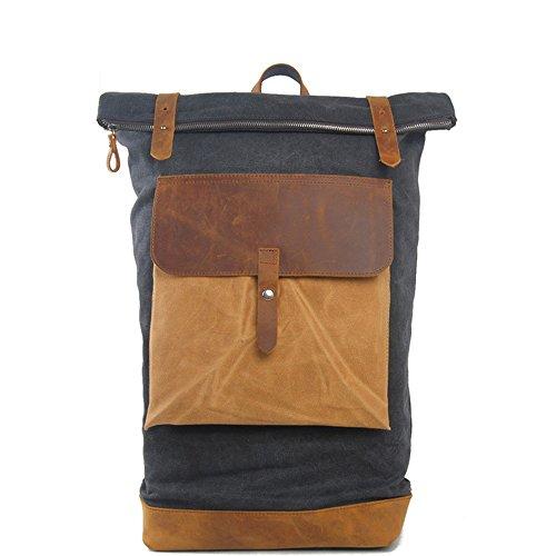 Neue britische retro style Männer und Frauen Rucksack reisen Rucksack Notebooktasche Schule wind Beutel, Dunkelgrau (Notebook-abschnitt Gepolsterte)