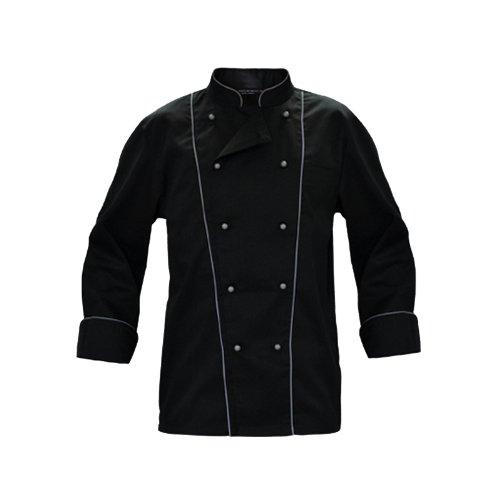 Giacca casacca da cuoco chef cotone nera ristorante serale elegante gala cucina