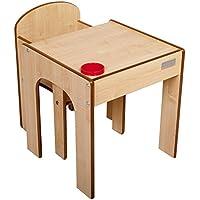 Preisvergleich für Little Helper FS01M - Original Holz Fun Station, Kleinkind Tisch und Stuhl Set mit Stiftehalter, natur
