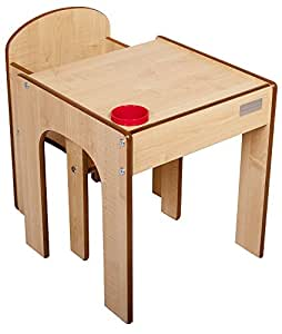 little helper fs01m original holz fun station kleinkind tisch und stuhl set mit stiftehalter. Black Bedroom Furniture Sets. Home Design Ideas
