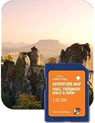 Satmap GPS System Adventure Map Deutschland 1:25000 Harz, thüringer Wald und Rhön, schwarz, DE-REG-ADV-SD-001