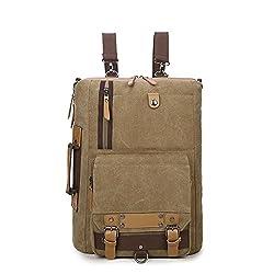 Retro Canvas Shoulder Backpack Travel Hiking Laptop Handbag Crossbody Messenger Bag For Men