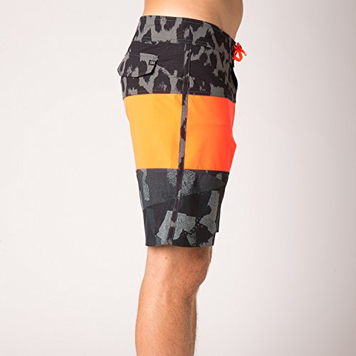 Fox Boardshort Camino Stacker Aqua Orange