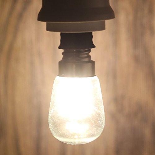 Hergon LED-Leuchtmittel, E12, 2 W, 3014 SMD, 24 LEDs, heller Lampenschirm, rein/warmweiß, 220-240 V, glas, Begie, m - Lampenschirm Wachs