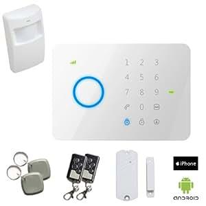 Pack Alarme sans fil GSM + accessoires