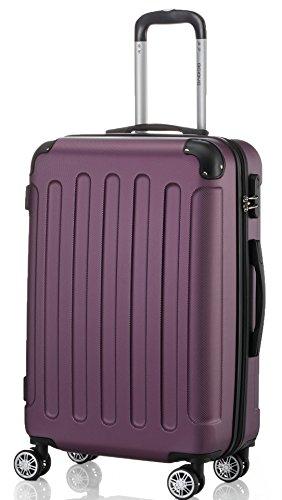 2045 Hartschale Koffer Kofferset Trolley Reisekoffer Größe XL-L-M in 12 Farben (Lila, XL)