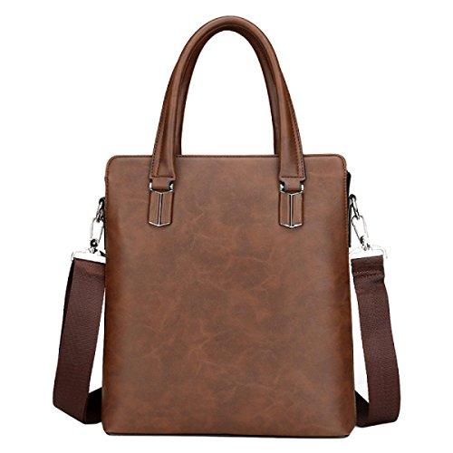 Männer Handtasche Bundle Business Aktenkoffer Schulter Messenger Computer Taschen Brown1