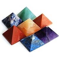 Reiki heilende Energie geladen Krystal Gifts UK Kristall Chakra Pyramide Set 7(Wunderschön als Geschenk verpackt) preisvergleich bei billige-tabletten.eu