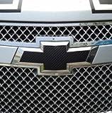 GOOACC, 2 schwarze Chevrolet-Logo-Aufkleber aus Karbon-Faser