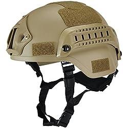 eamqrkt Casco táctico Militar Airsoft Gear Paintball Head Protector con visión Nocturna Sport Camera Mount, Camuflaje