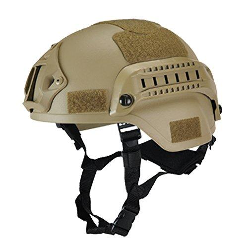 ieenay Protecteur de tête de Paintball Gear Casque Tactique Militaire avec Monture de caméra Sport Vision Nocturne