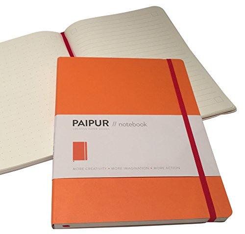 premium-ordinateur-portable-en-paipur-papier-epais-de-luxe-large-25-cm-x-19-cm-grille-a-pois-et-lign