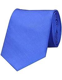Tiekart Blue Classic Silk Plain Solid Necktie for men