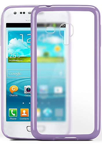 S3 Mini   Hülle Slim Transparent Lila Impact Back-Cover Dünn Schutzhülle Silikon Handy-Hülle für Samsung Galaxy S3 Mini S III Case TPU Tasche Matt ()