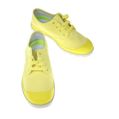 Palladium PAMPA OXFORD LITE 92666-605-M, Chaussures basses femme Jaune (B.Yellow/Vapor)