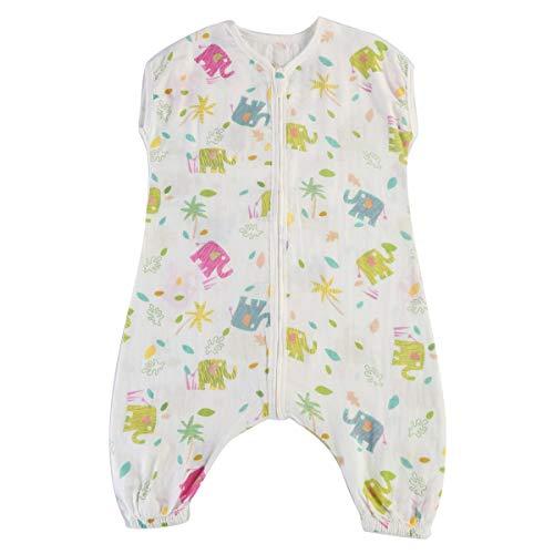 Yonimu Baby Schlaf Sack, Kinder Doppelschicht-ärmellose tragbare Decke Schlafsack (Color : Hawaii Elephant, Size : ()