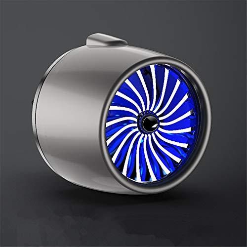 SIOJB Diffusore di Profumo per Auto Air 2 Profumo Profumo Deodorante LED Decorazione Luminosa Presa per Auto Accessori per Clip di sfiato Regalo, Grigio Blu