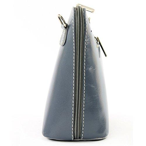 modamoda de -. borsa in pelle ital piccole signore borsa tracolla bag Città bovina T94 Grau