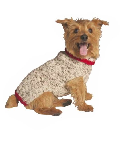 Chilly Hund Oatmeal mit Trim Pullover (Trim Pullover)