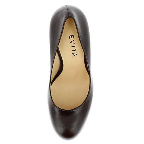 Evita Shoes Damen Cristina Pumps Dunkelbraun yYSHgXbx