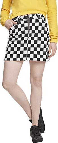 Urban Classics Damen Ladies Check Twill Skirt Rock, Mehrfarbig (Chess 01683), 40 (Herstellergröße: L) -