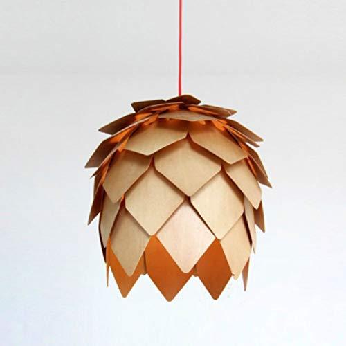 Bin Bin LED Kronleuchter Holz Kiefer Kegel Light/Three Zusammen,Assembly,50Cm -