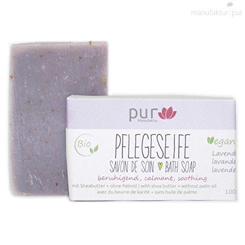 Manufaktur Pur Bio Sheabutter-Naturseife Lavendelseife 100 g -
