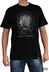 ABYstyle abystyleabytex215-l Abysse Game of Thrones - Camiseta de Manga Corta para Hombre (Grande, Hierro)