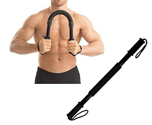 Ducomi Power Twister - Barra Musculación, Extensor Entrenamiento Pecho y Brazos a Casa o Gimnasio - Barra Flexible para Fortalecer, Tonificar Músculos Pectorales y Definir Brazos (40 kg)