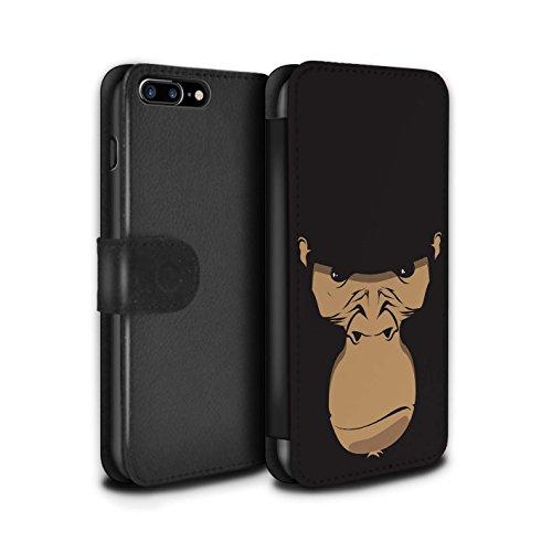 Stuff4 Coque/Etui/Housse Cuir PU Case/Cover pour Apple iPhone 5C / Chien/Bulldog Design / Museaux Collection Gorille/Chimpanzé/Singe