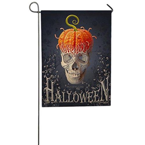 HCFKJ 2017 Mode Halloween 12 X 18 Inch Custom KüRbis Halloween Dekoration Garten Flagge (Kostüme Twin 1 Twin 2 Und)