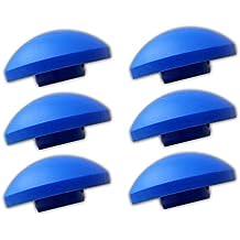 AWM Trampolin 6x Endkappen blau Sicherheitsnetz Kappen Pfosten-Stangen Ersatzteil 25 mm