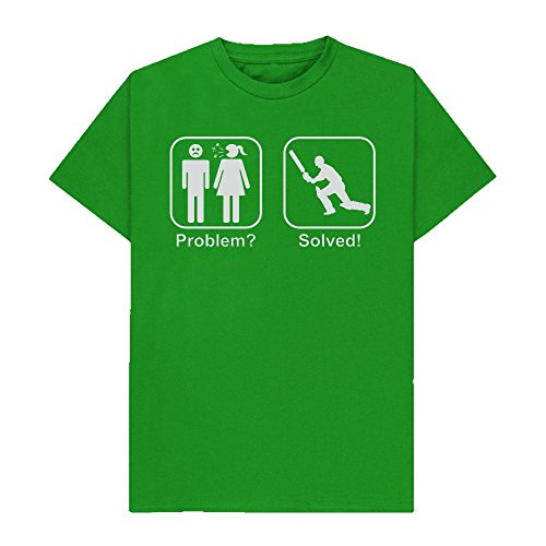 Problem? Solved! - Cricket - Hobbies - Nagging Wife - Funny - Tshirt - Shaw T-Shirts® - Sizes Small to 2XL