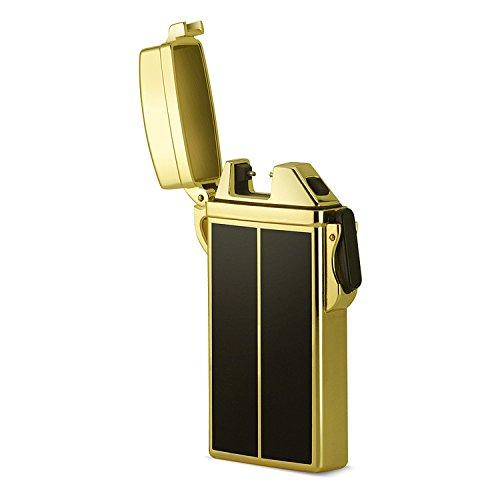 Accendino USB accendini ARC impermeabile ricaricabile senza fiamma sigaretta elettrica Plasma ARC Pantheraa, Gold/Black