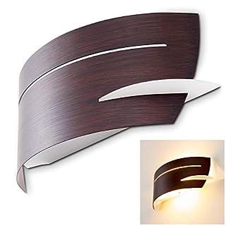 Wandlampe Novara in Braun mit Struktur-Effekten – Wandleuchte für den Flur – Wohnzimmer – Küche – tolles Geschenk für die Einweihungsfeier – LED-Leuchte – Eco Halogen-Licht